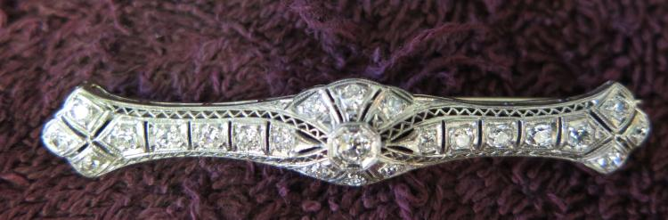 Vintage Early 20th Century Edwardian Diamond/Gold Brooch
