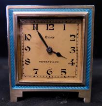 Vintage Tiffany & Co. Art Deco Desk/Travel Clock