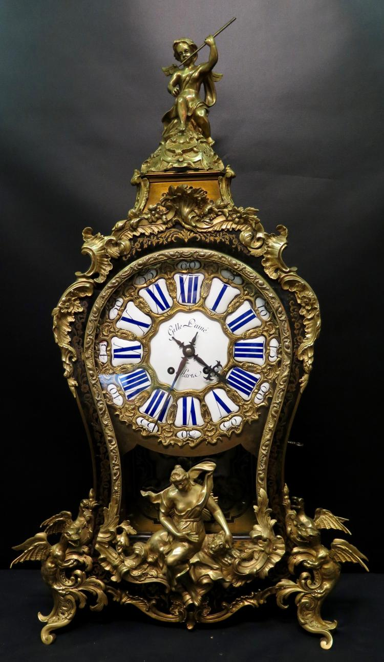 Vintage Late 19th Century Louis XV Bracket Clock