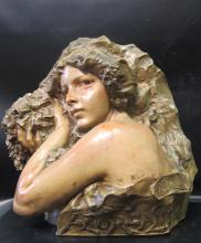 Art Nouveau Sculpture in Terra Cotta