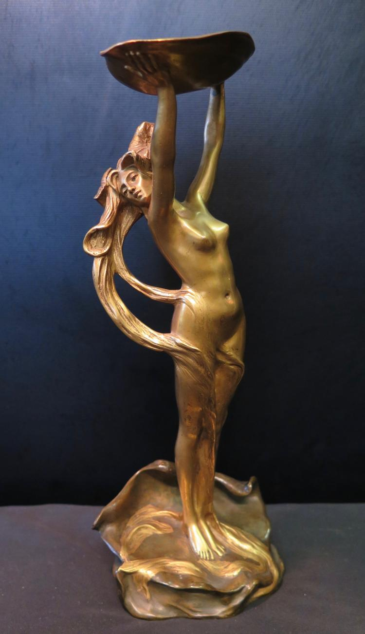 Art Nouveau Bronze Nymph