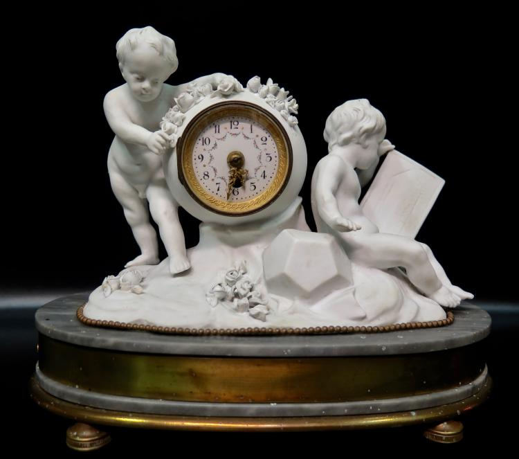 Vintage 19th Century Ladies Boudoir Clock