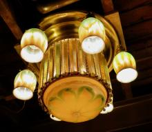 Exceptional Tiffany Studios Ceiling Fixture