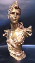 Vintage Parisin Bronze Bust signed George Courday