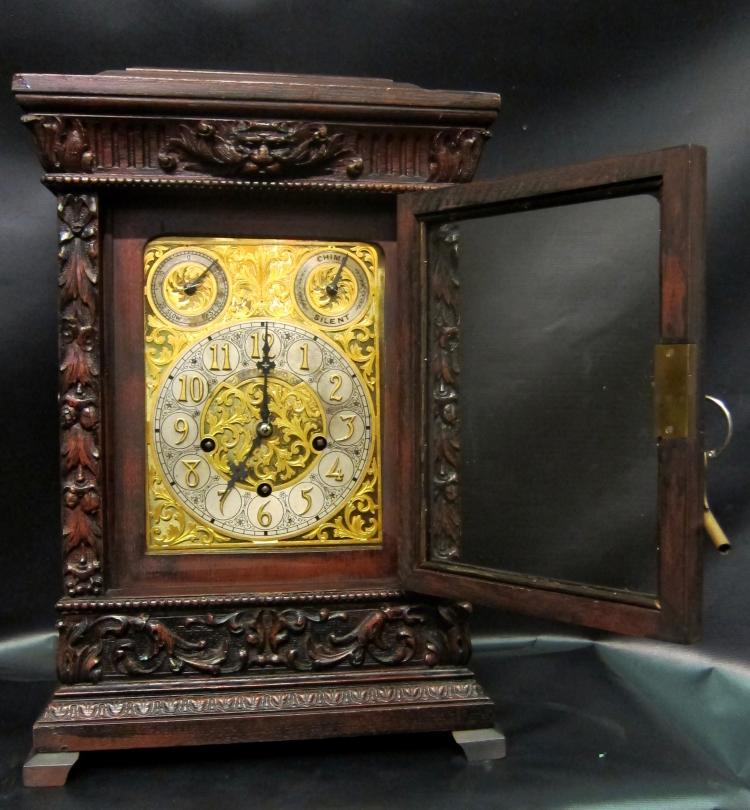 Tiffany & Co. Oak Case Mantel Clock, circa 1900
