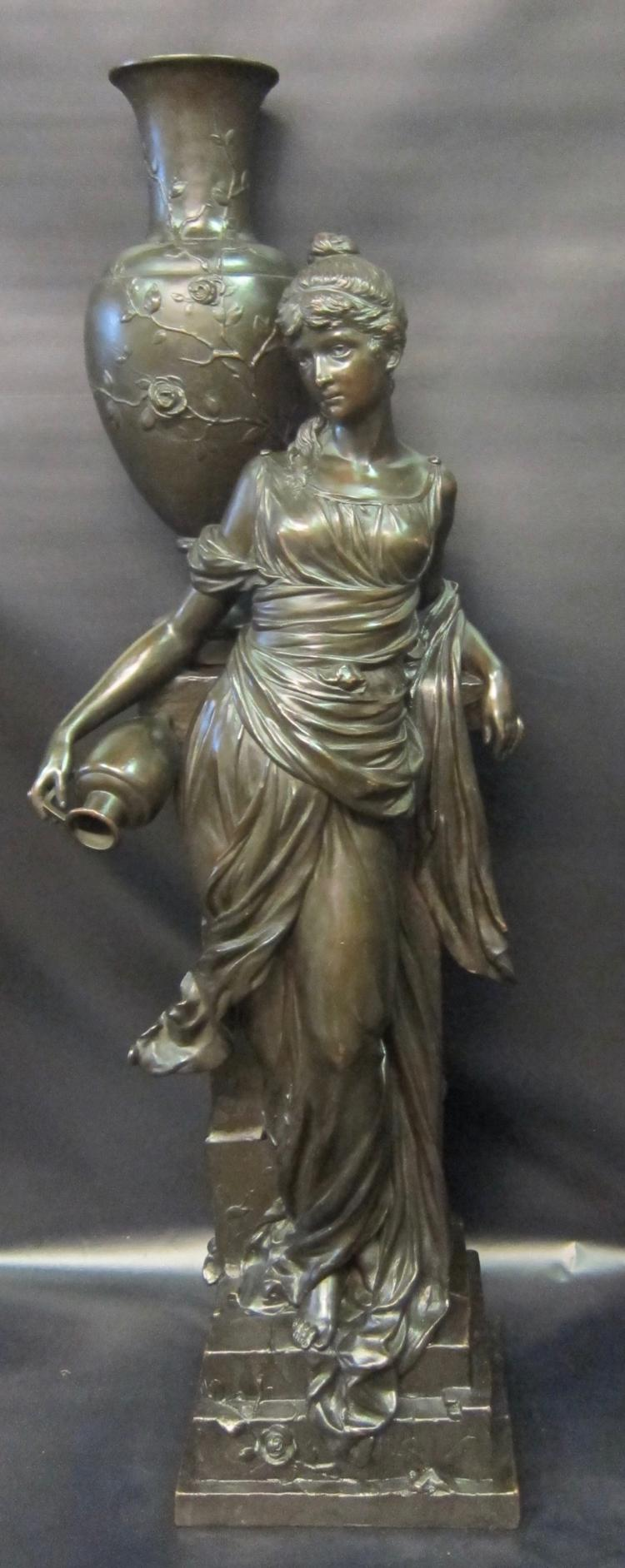 Vintage Grecian Copper Clad over Gesso Sculpture