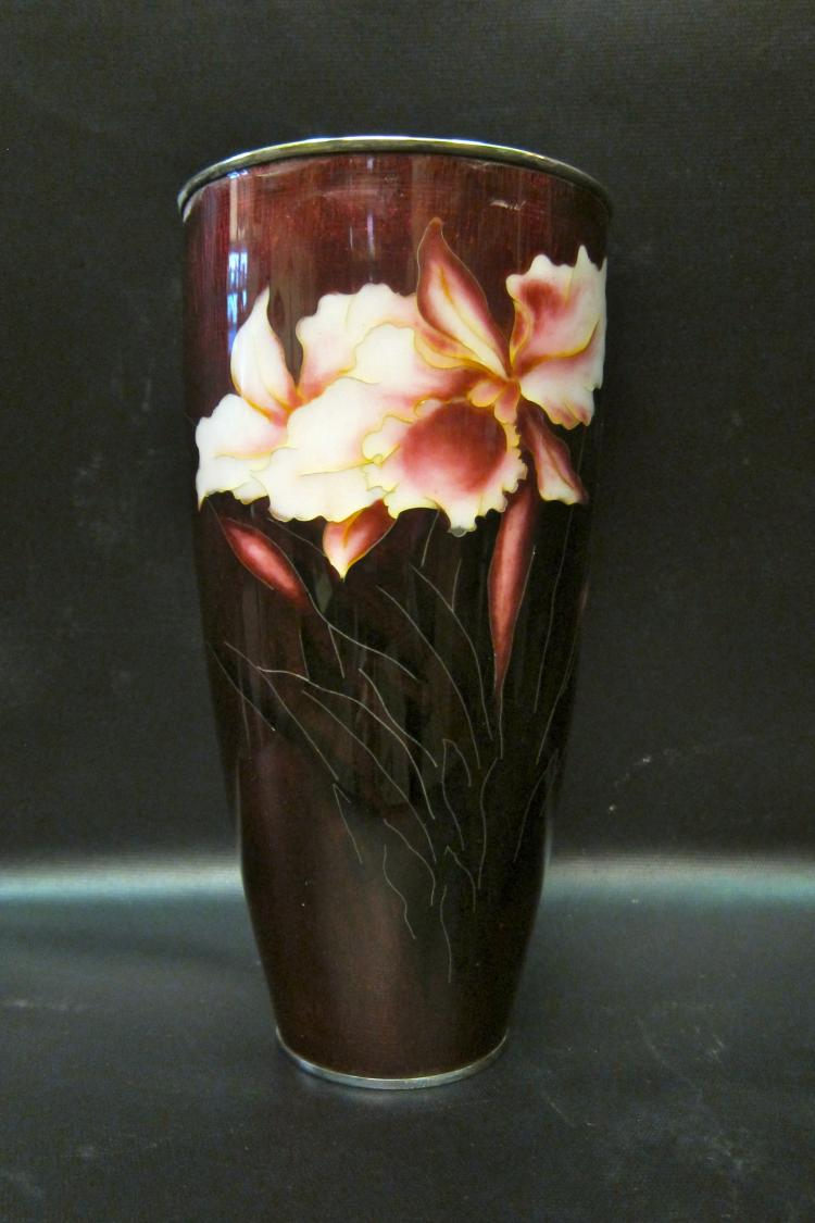 Vintage Japanese Imperial Enamel Vase