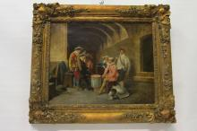 Vintage signed 19th Century Oil on Canvas