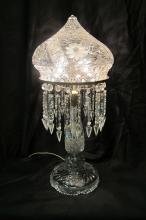 Vintage, Early 20th Century, American Cut Glass Lamp