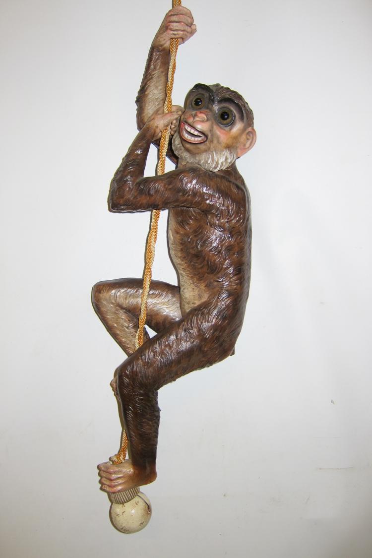 Vintage Figural (Monkey) Porcelain Bell-Pull