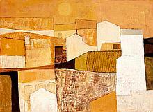 """Monnier Charles - 1925 Genf - 1993 Sierre - Cavoilane"""". Oel auf Leinw"""
