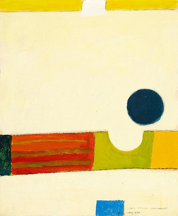 Kolos-Vary Sigismond, Komposition. Oel auf Büttenpapier,  au
