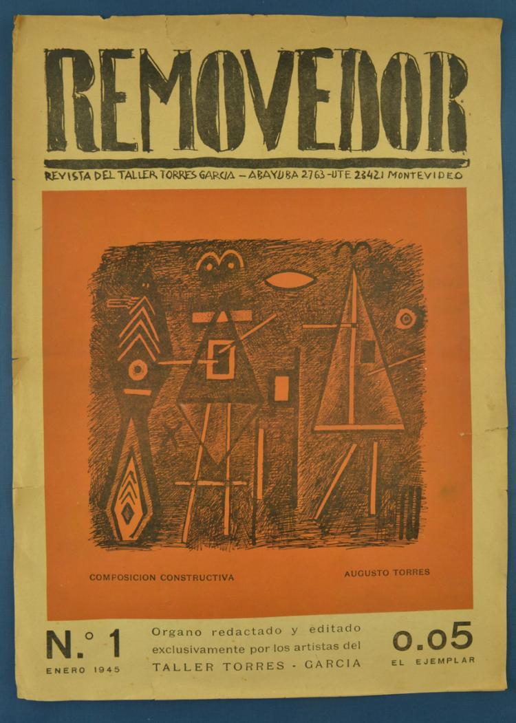 "Revista del Taller Torres García: ""Removedor"". Montevideo. Torres García Workshop. 1944 - 1953. Former Juan Carrera Roldán Library. // Complete collection: 28 numbers."