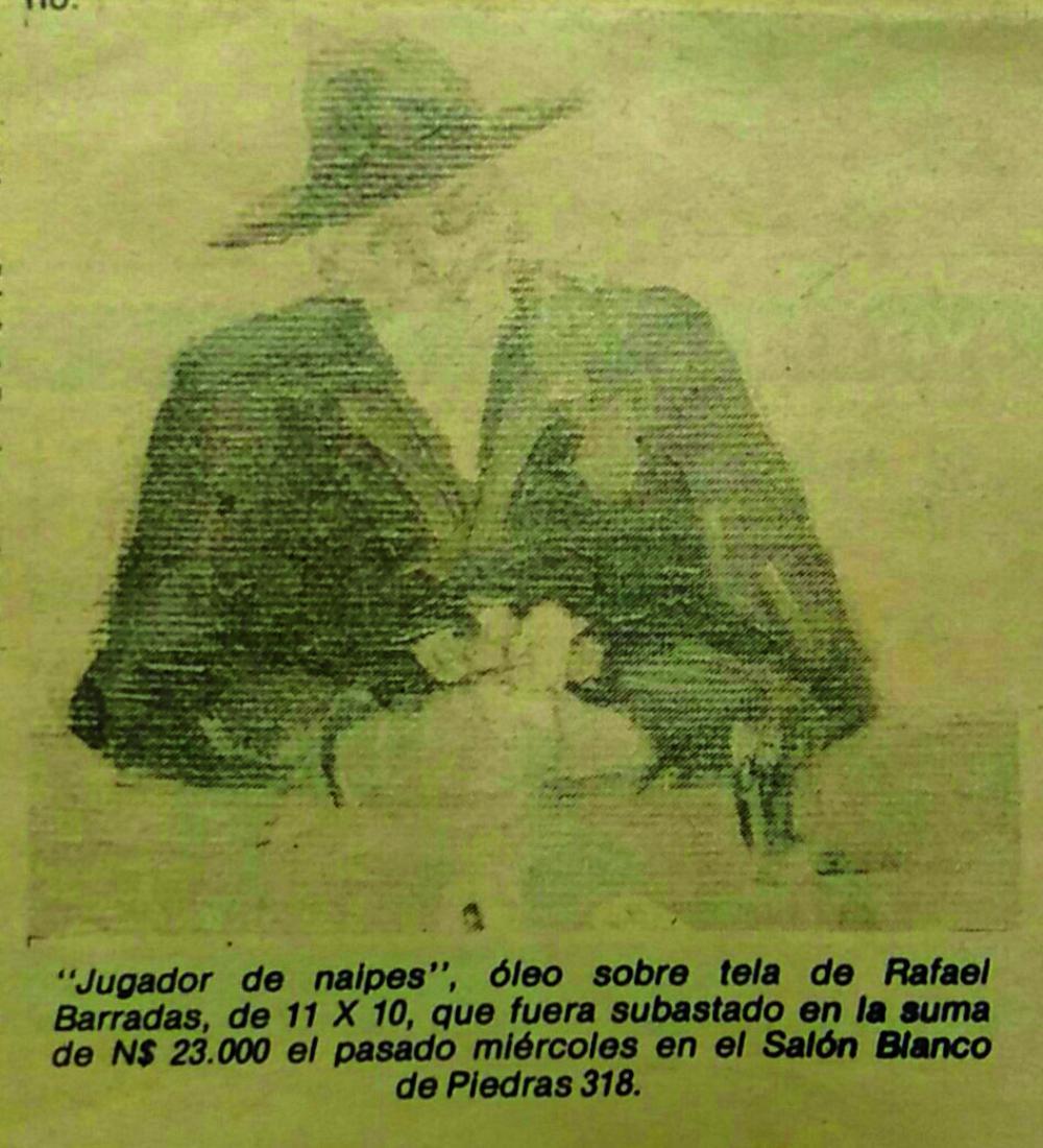 RAFAEL BARRADAS (1890 - 1929). Óleo sobre tela pegada sobre cartón