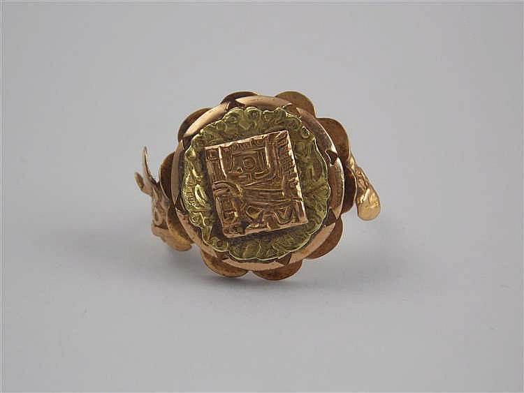 a peruvian gold ring