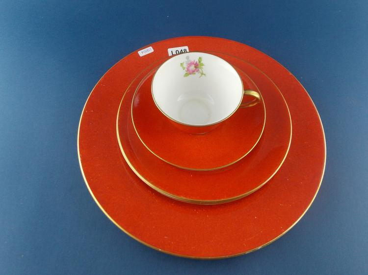A STAFFORDSHIRE ROYAL CROWN DERBY ENGLISH PORCELAIN TEA SET