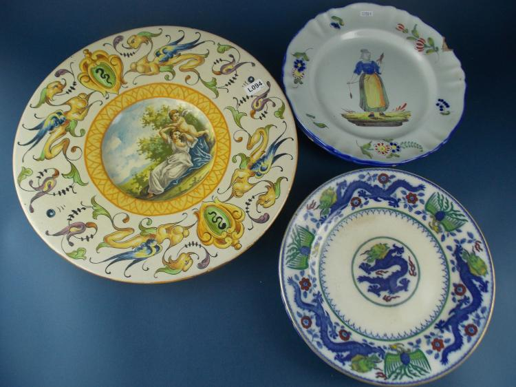 A GROUP OF FIVE PLATES