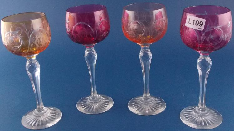 A SET OF CUT-CRYSTAL GLASSES