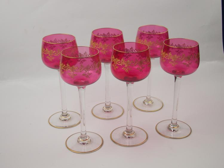 A SET OF BACCARAT CRYSTAL GLASSES