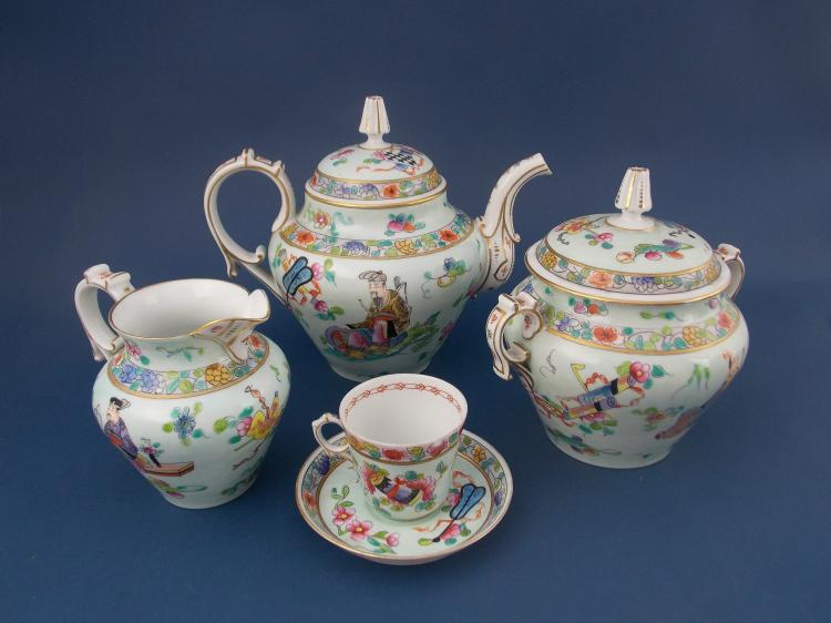 A CHINESE PORCELAIN COFFEE SET
