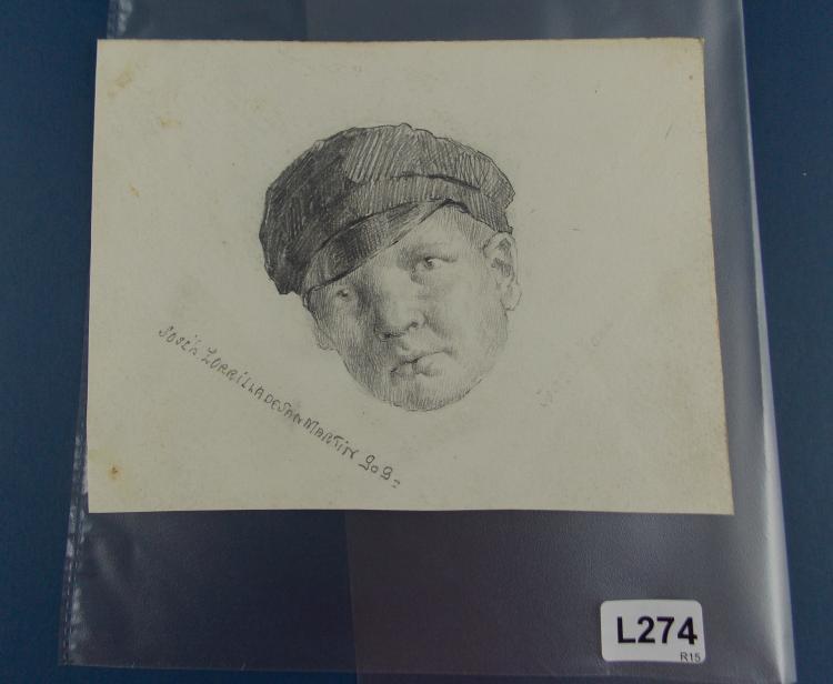 JOSÉ LUIS ZORRILLA DE SAN MARTÍN. A pencil drawing