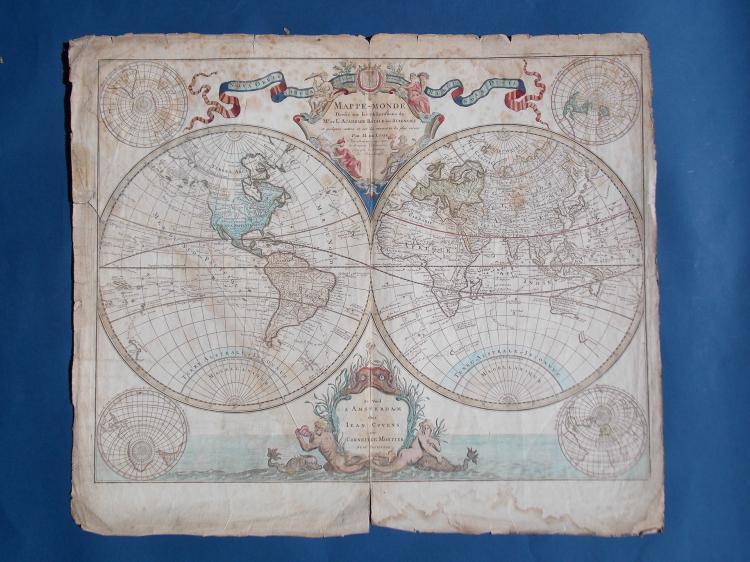 AN ANTIQUE WORLD MAP