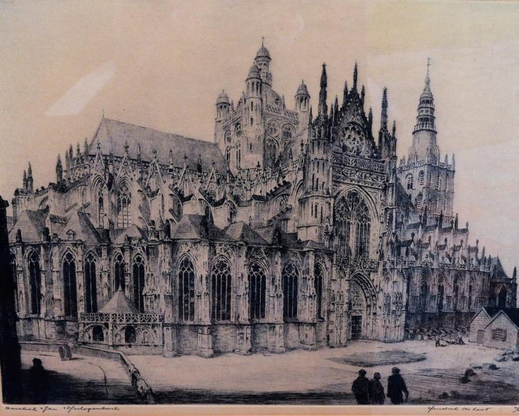 Laat, Hendrik de (1900-1980) - Basiliek Sint Jan, 's Hertogenbosch