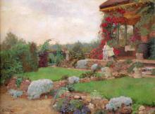 Ferdinand Oldewelt (1857-1935) - De tuin van De Paddestoel 1926