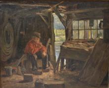 Herman van der Haar (1867-1938), Boer in werkplaats