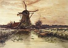 Cox  Cornelis (1875-1956) The mill  Holland