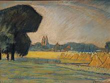 Wildschut  George (1883-1966) View on Laren  Holland