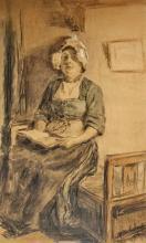Bohnhorst  A. (1849-1919) A woman from Volendam