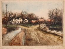 Beek  Piet van 19e eeuw De Hondenbrug near Hilversum  Holland