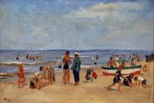 Abbing  Fik (1901-1955) On the beach in Holland  Bergen