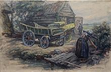 Eriks  Jac (1895-1965) Dutch farmyard  Eemdijk
