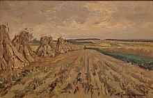 Schulman  David (1881-1966) Fields in Holland  near Blaricum