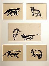 Berg  Freek van den (1918-2000) Study of six cats