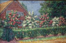 Schoonhoven van Beurden (1883-1963) Spring in dutch village  Laren