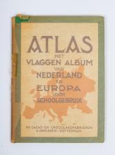 N.V. Cacao A. Driessen, Rotterdam - Atlas met vlaggen album van Nederland en Europa