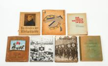 [WWI & WWII] Lot with 6 German picture albums and 1 Belgian