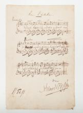 [Music] Collection of 15 music scores in print and manuscript, with dedications