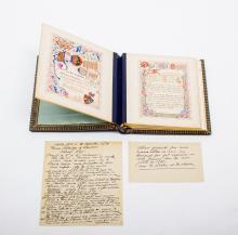 [Bradford Grammar School] Festive album of the French schoolmaster Adolphe Domry,