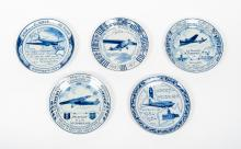 [Aviation] [KLM] Lot with 5 commemorative plates