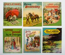 Lot with 6 diverse children's books '20s-'30s