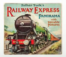 [Movables] Father Tuck's Railway Express Panorama with movable pictures