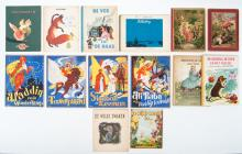 Lot with 14 diverse children's picture books,