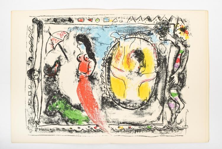 Marc chagall signed derri re le miroir for Chagall derriere le miroir