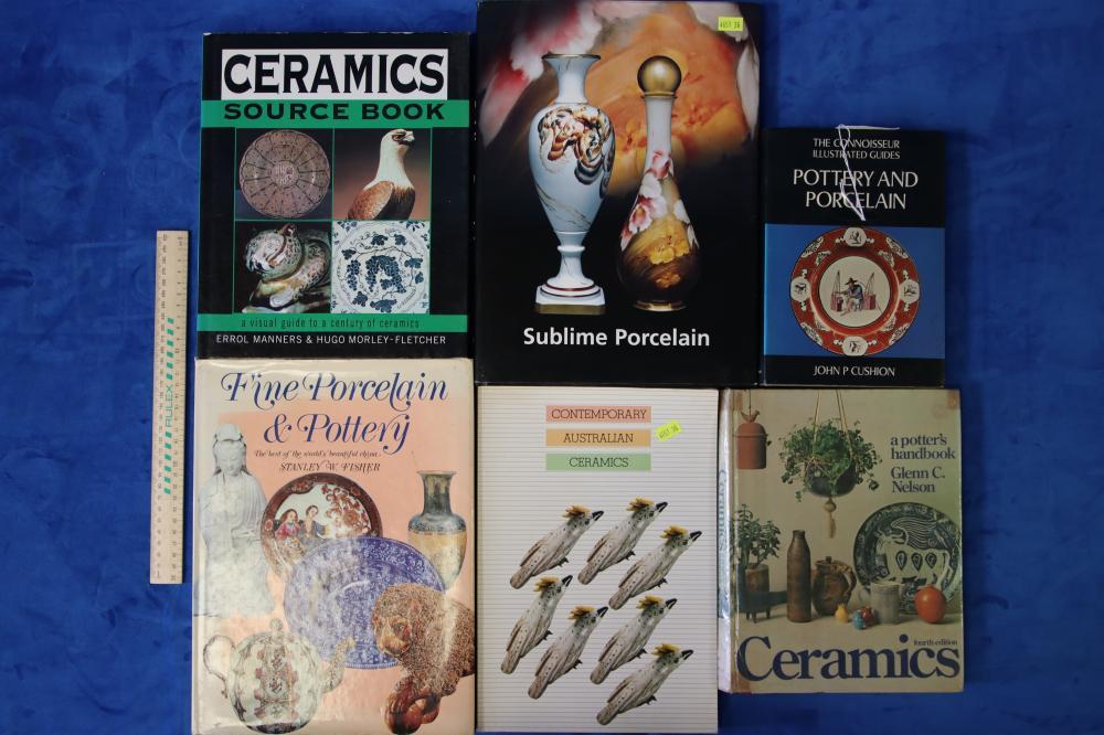 6 POTTERY & PORCELAIN BOOKS SOME RARE