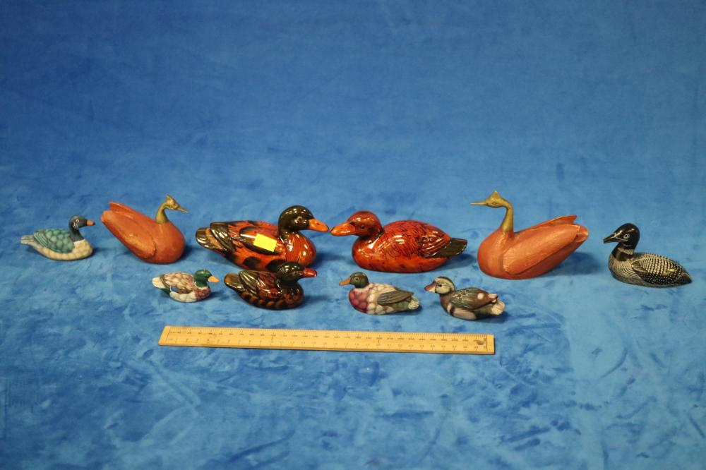 SELECTION OF DUCK FIGURES