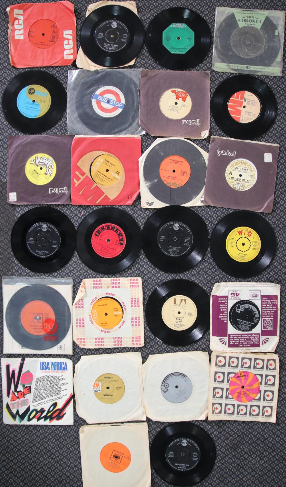 LOT OF SINGLE RECORDS